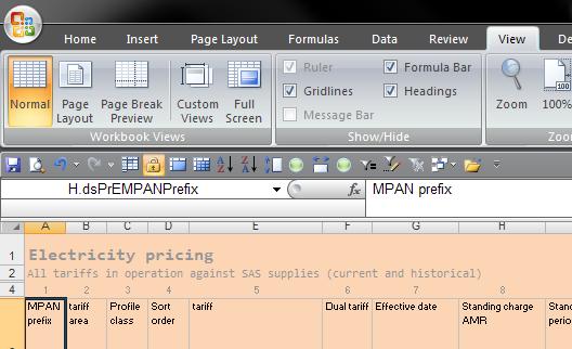 excel how to get formula bar back